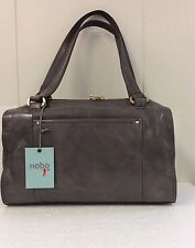 Hobo Monika Leather Granite Gray Purse Shoulder Top Handle Bag New