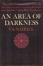 """V.S. NAIPAUL """"An Area of Darkness"""" SIGNED First Printing NOBEL PRIZE WINNER Rare"""