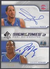 Dwight Howard Tayshaun Prince 08-09 SP Authentic (on card dual AUTO) 09/50
