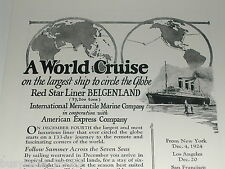 1924 International Mercantile Marine advertisement, Red Star Liner BELGENLAND