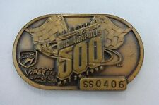 1996 Indianapolis 500 Bronze Pit Badge Buddy Lazier Delta Faucet Hemelgarn