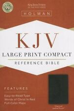 KJV Large Print Compact Bible, Charcoal LeatherTouch (2013, Imitation Leather)