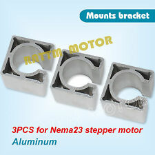 3pcs Nema23 Stepper Motor Aluminium Mount Clamp Bracket For CNC Router Milling