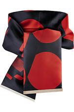 Nuevo En Caja-Stella McCartney Rojo y Negro Satinado Impreso Cintura Cinturón. RRP £ 300