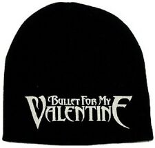 BULLET FOR MY VALENTINE Logo Printed Black Beanie Cap Rock Official Merchandise