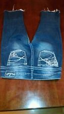 Womens Silver Tuesday bling studded pockets W 28 blue denim jean capris cut-offs