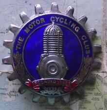 Vintage Chrome Enamel Car Mascot  : The Motor Cycling Club : Cylinder Head B