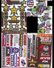 4 Mixed Sheets Sticker Decal Car ATV Bike Racing Helmet Motorcross Dirt BMX #B