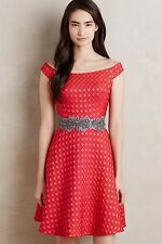 NWT SZ 4 ANTHROPOLOGIE MINETTE DRESS MOULINETTE SOEURS JACQUARD CLASSY BEAUTY!