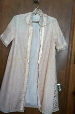 * Pink Lace Overlay Robe by Odette Barsa For Bonwit Teller