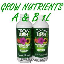 GROWLUSH HYDROPONICS GROW PART A&B 1L NUTRIENT