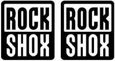 2 stickers ROCKSHOX VTT Mountain Bike Vélo Bmx Fourche Autocollant