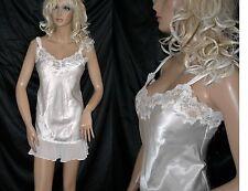 VTG Oscar de la Renta Ivory Silk Lace Babydoll Chemise Nightgown