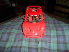 1995 BURAGO FERARRI F-50 1:18 Diecast Red Sports Car made in Italy