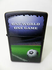 "Zippo  ""ONE WORLD ONE GAME"" - Schwarz matt  -  NEU & ovp - #1417"