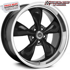 "AMERICAN RACING AR105 TORQ THRUST M GLOSS BLACK 16""x7 WHEELS RIMS (set of 4)"