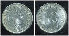 ALLEMAGNE  WW II     10 reichspfennig  1940 B  ( bis )
