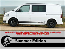 Volkswagen VW Side Stripes Decals Transporter T4 T5 Campervan Surf Summer