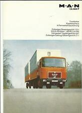 M.A.N. 13.168 F TRUCK LORRY BROCHURE 1982 GERMAN LANGUAGE