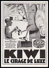 Publicité Cireur de chaussures KIWI cirage  Shoe shine vintage print ad 1930 -1i