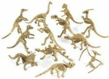 Lot (12) NEW Dinosaur Figure Skeletons Fossils Bones Jurassic Park Play Toy Set
