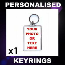 (x1) PERSONALISED CUSTOM PHOTO KEYRING PROMOTIONAL BUSINESS LOGO BAG TAG GIFT