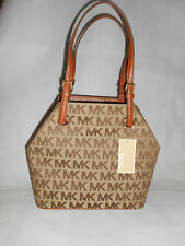 New Michael Kors Monogram Women's Jet Set Grab Handbag, Brown RRP £220