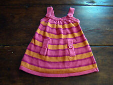 Gymboree Pink Orange Striped Sweater Dress Fall Homecoming 12-18 Months