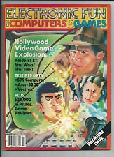 VINTAGE ELECTRONIC FUN WITH COMPUTERS & GAMES MAGAZINE-VOL-# 1-NOV.-1982 MINT