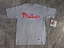 Philadelphia Phillies Heavy Weight Over Sized  T-Shirt  ( XL ) Gray by Majestic