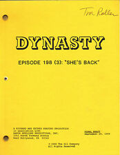 STEPHANIE BEECHAM - JOAN COLLINS - Orig DYNASTY TV Script 'SHE'S BACK' 1988 C#22