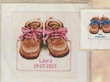 Stickpackung Stickbild sticken 34x35 cm Babyschuhe Schuhe Junge Mädchen Baby
