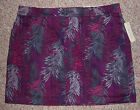 SONOMA Original Fit Colorful Violet Plum Gray Skort Shorts with Skirt Size 14
