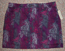 SONOMA Original Fit Colorful Violet Plum Gray Skort Shorts with Skirt Size 16