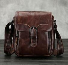 Men Genuine Leather briefcase handbag shoulder Messenger small wallet phone  bag