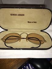 Vintage Giorgio Armani Men's Gold Oval Sunglasses W/ Case