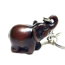 NEW VINTAGE THAI ELEPHANT KEY CHAIN SMALL RESIN HANDBAG PENDANT SOUVENIR