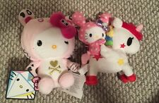 Sanrio Hello Kitty Tokidoki Plush Lot Unicornio Pink Tiger NWT 2012 2013