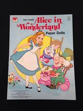 1976 Original Disney Alice In Wonderland Paper Dolls Uncut