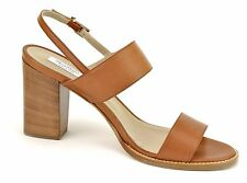 Max Mara Women's Tan Leather Sandals Heels Shoes Size 8 (38) NIB MSRP $495