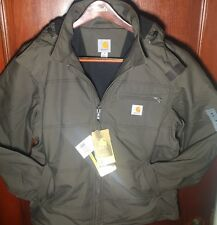 Mens Carhartt Quick Duck Livingston Insulated Water Resistant Jacket w/ Hood NWT