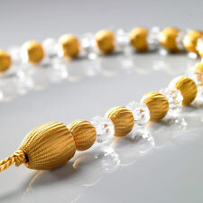 1 x Gold Modern Earl Designer Beaded Rope Curtain Tie Back Tieback