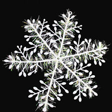 Fashion 15Pcs 14.5cm White Snowflake Ornament Christmas Holiday Party Home Decor