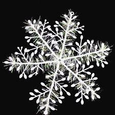 Fashion 15Pcs 14.5cm White Snowflake Ornament Christmas Holiday Party Home Decor
