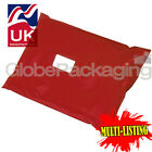 STRONG RED POSTAL PLASTIC POSTAGE POLY MAILING BAGS MAILERS *ALL SIZES/QTY'S*