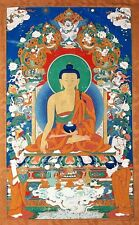 ANCIENT BUDDHA Vintage Buddism Art Premium Archival CANVAS ART PRINT 24x36
