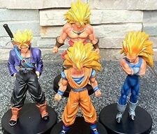"Dragon Ball Z Super Saiyan 5"" Action Figures Set: Goku Broly Vegeta Trunks 4 pcs"