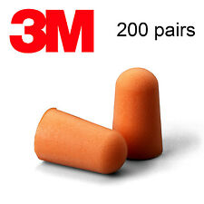 3M 1100 Uncorded Disposable Foam Ear Plugs (NRR 29) Individually Packaged 200/Bx