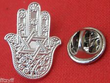 Hamsa Star of David Lapel Hat Cap Tie Pin Badge Jew Jewish Hebrew Brooch Gift