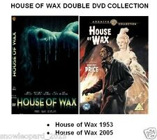 HOUSE OF WAX DOUBLE DVD OLD NEW Vincent Price 1953 Elisha Cuthbert 2005 Sealed